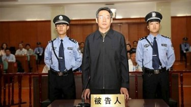 Pleaded guilty to accepting more than 35 million yuan in bribes: Liu Tienan at Langfang People's Intermediate Court.