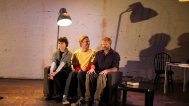 Slowly ratcheting tension: Natalie Car, Samuel Russo and Matthew Molony star in Jane Miller's Cuckoo.