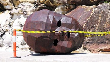 Sandy Bliim's sculpture <i>Clytie</i> before the opening.