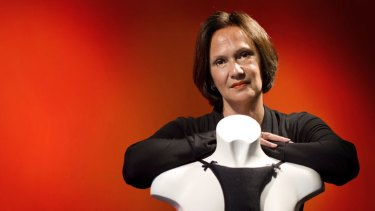 """It started out as my secret"" ... Rachel de Boer with her invention, Le Decolletage."