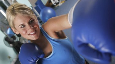 Latest hit: Boxing training works not only the upper body but the core and legs.