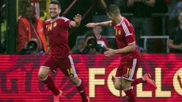 Belgium's Dries Mertens scored the first goal.