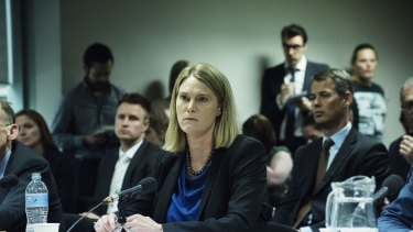 Maile Carnegie, the managing director of Google Australia and New Zealand, at the hearing on Wednesday.