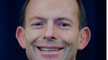 Reason to be cheerful: Tony Abbott is on an easy run to power.