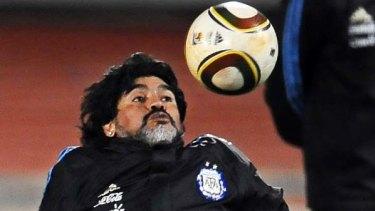 Argentina's coach Diego Maradona.