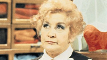 Mollie Sudgen in the TV series 'Are You Being Served?'