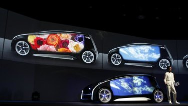 The whole body of the concept car can be used as a display space, with the body colour and display content changeable at will.