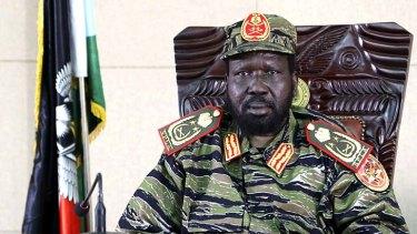 Still in control: South Sudan President Salva Kiir.
