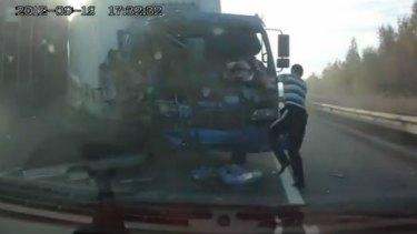 There are dozens of videos online of serious road incidents in Russia shot with dashboard cameras.