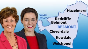 Glenys Godfrey (Liberals) and Cassie Rowe (Labor) face off in Belmont.