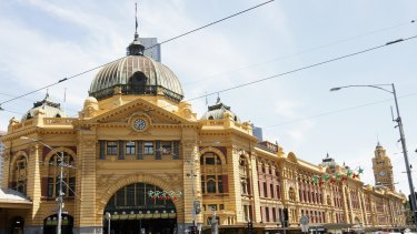 Commuters reported a bad smell near Flinders Street Station.