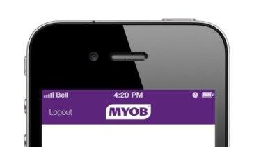 MYOB's new mobile point-of-sale app.