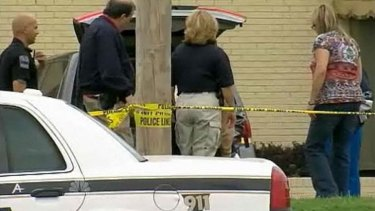 Search for the shooter ... US police in Tulsa, Oklahoma.