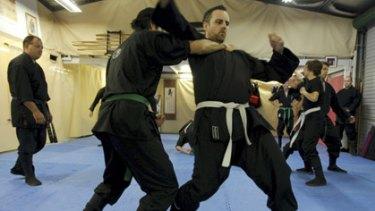 Skilled...Ninja Senshi Ryu students training last night.