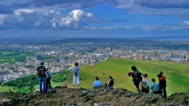 Scots' views on independence appear to be changing in the run-up to the referendum. The vista from Arthur's Seat, looking toward Edinburgh Castle.