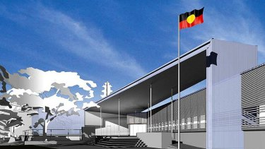 A 2004 design for an indigenous cultural centre for Musgrave Park.