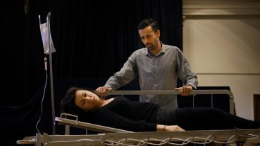 Antoinette Halloran and Byron Watson rehearse for <i>Midnight Son</i>, based on the killing of Maria Korp.