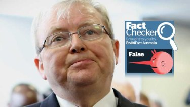 Kevin Rudd's claim that there are precedents for governments winning from this far behind are found to be false.