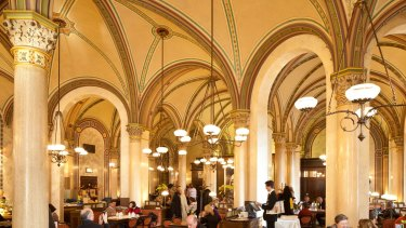 Vienna's ornate Café Central.