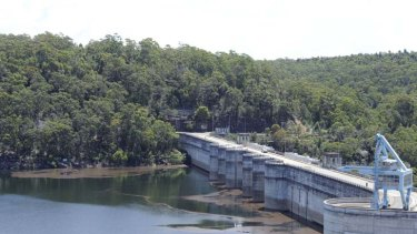 Surging level ... Warragamba was at 85 per cent yesterday.