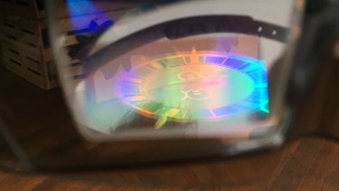 A glimpse through the Hololens eyepiece.
