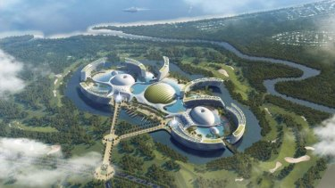 An artist impression of Aquis, the proposed mega casino for Cairns.