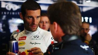Frustrated: Mark Webber.
