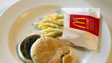 Changing the perception ... The fast food chain famously copped flak in 2010 after artist Sally Davies left a Happy Meal to decompose on her coffee table. After six months, it showed little sign of deterioration.