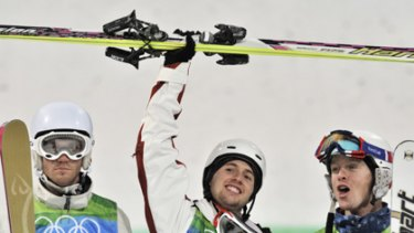 Australia's Dale Begg-Smith (left) lost out to Canadian Alexandre Bilodeau in a thrilling final.