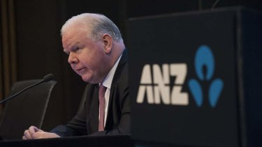 'More gas in the tank' ... ANZ chief executive Mike Smith gives an optimistic outlook.