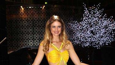 "Australia's Sherri-Lee Biggs in ""national costume""."