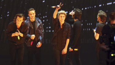 Before the poppy: One Direction performs in Germany.
