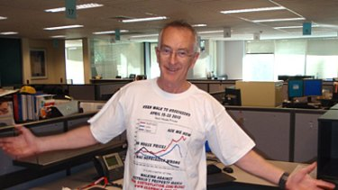 Walk of shame ... Dr Steve Keen has a long road ahead of him after losing a bet over property prices.