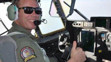 Flight Lieutenant Conan Brett, piloting the mission.