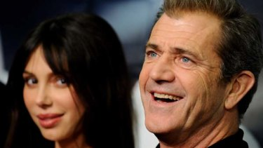 Mel Gibson and Oksana Grigorieva at the premiere of <i>Edge of the Darkness</i> in Madrid in January this year.