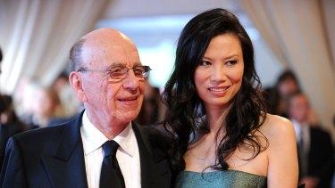 Rupert Murdoch and his former wife Wendi Deng.