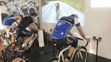 Virtual touring … Athlete Lab at Circular Quay.