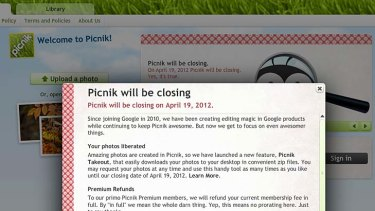 Picnik will be closing April 19, 2012.