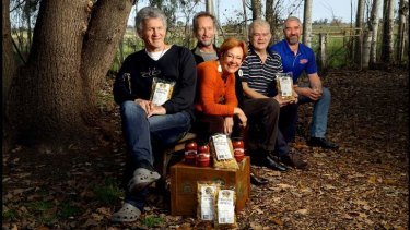 Heartland: Goulburn Valley Food Co-op members Les Cameron, Liz Waters, Will Dalgliesh, Simon Fraser and Glen McDonalld.