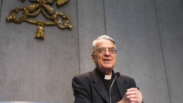 'It was clearly not a public relations event': Vatican spokesman Reverend Federico Lombardi answers questions on the Pope's meeting with six victims of clergy sexual abuse.