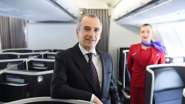Virgin Australia chief executive John Borghetti. Market sources say Virgin is looking at selling the remainder of its Velocity scheme.