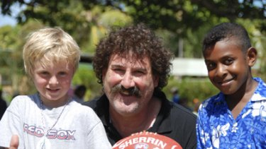 As Auskick ambassador, DiPierdomenico worked with children from across Australia.