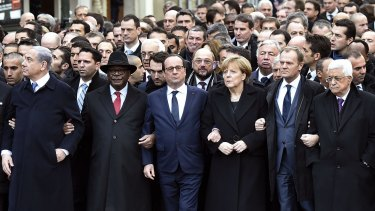 World leaders put aside their differences for the march.