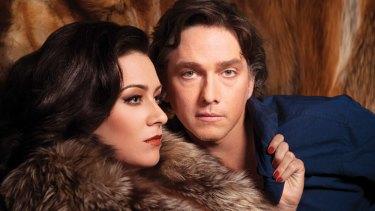 Libby Munro as Vanda and Todd McDonald as Thomas in <i> Venus in Fur</i> playing at QPAC from June 22 to July 27.