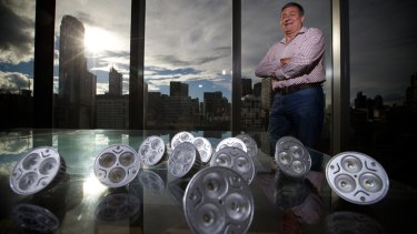 Freshwater Place apartment owner Peter Renner has embraced low-wattage bulbs.