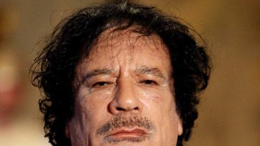 Killed in Sirte ... Muammar Gaddafi.