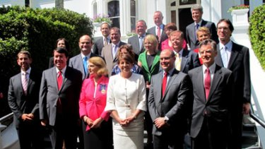 Bligh's new cabinet is sworn in at Government House.