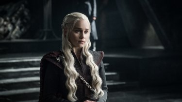 Emilia Clarke as Daenerys Targaryen in a first-look image from season seven of <i>Game of Thrones</i>.