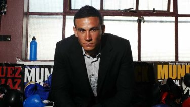 Back in black ... Sonny Bill Williams at the gym, home of his parallel boxing career.
