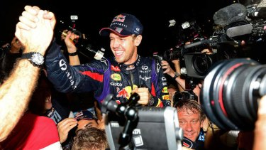 """""""It is a pleasure to jump in the car and go out and drive for the guys and give it all I have"""": Sebastian Vettel"""